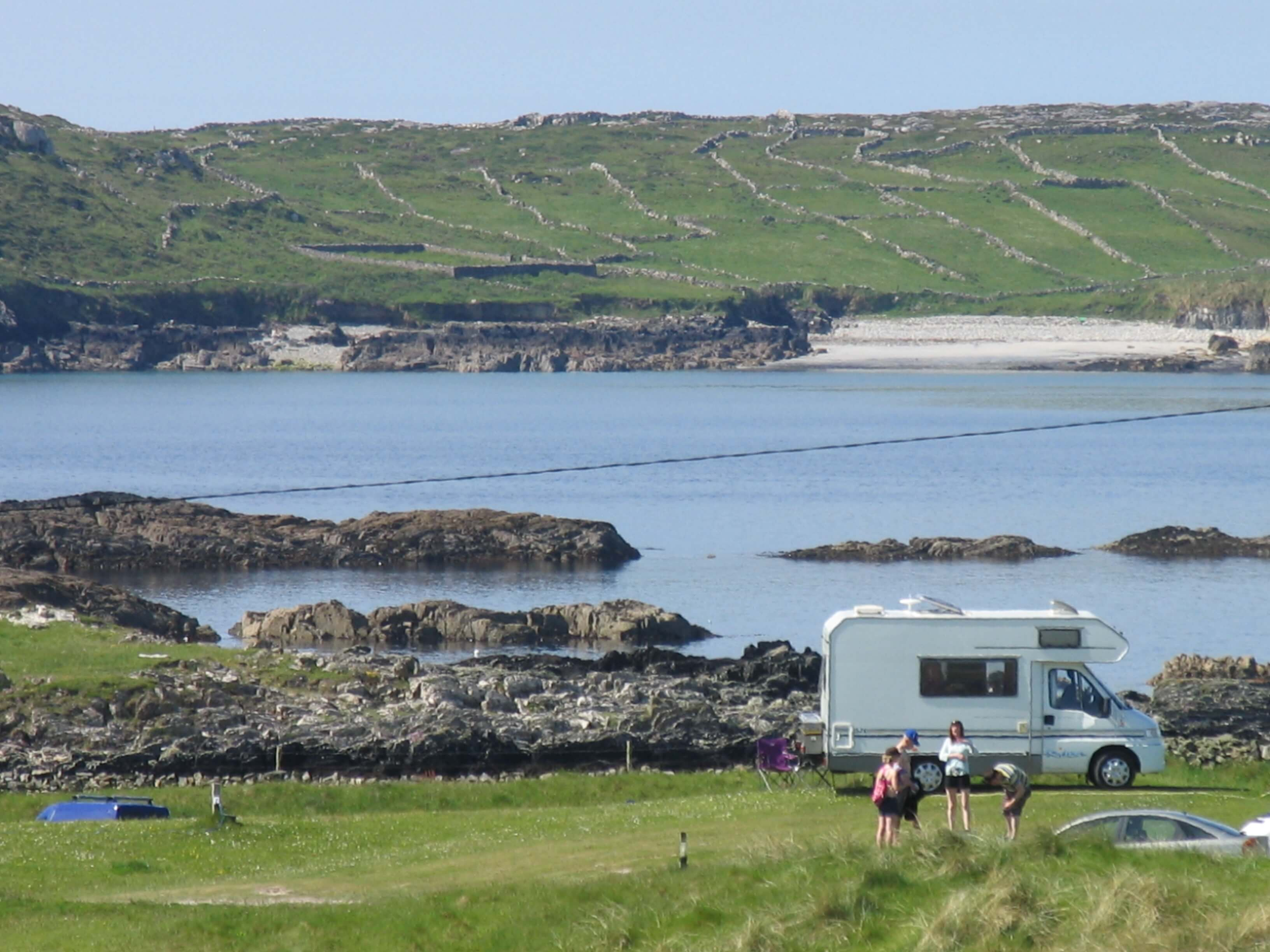 Motorhome pitches at Clifden Eco Beach