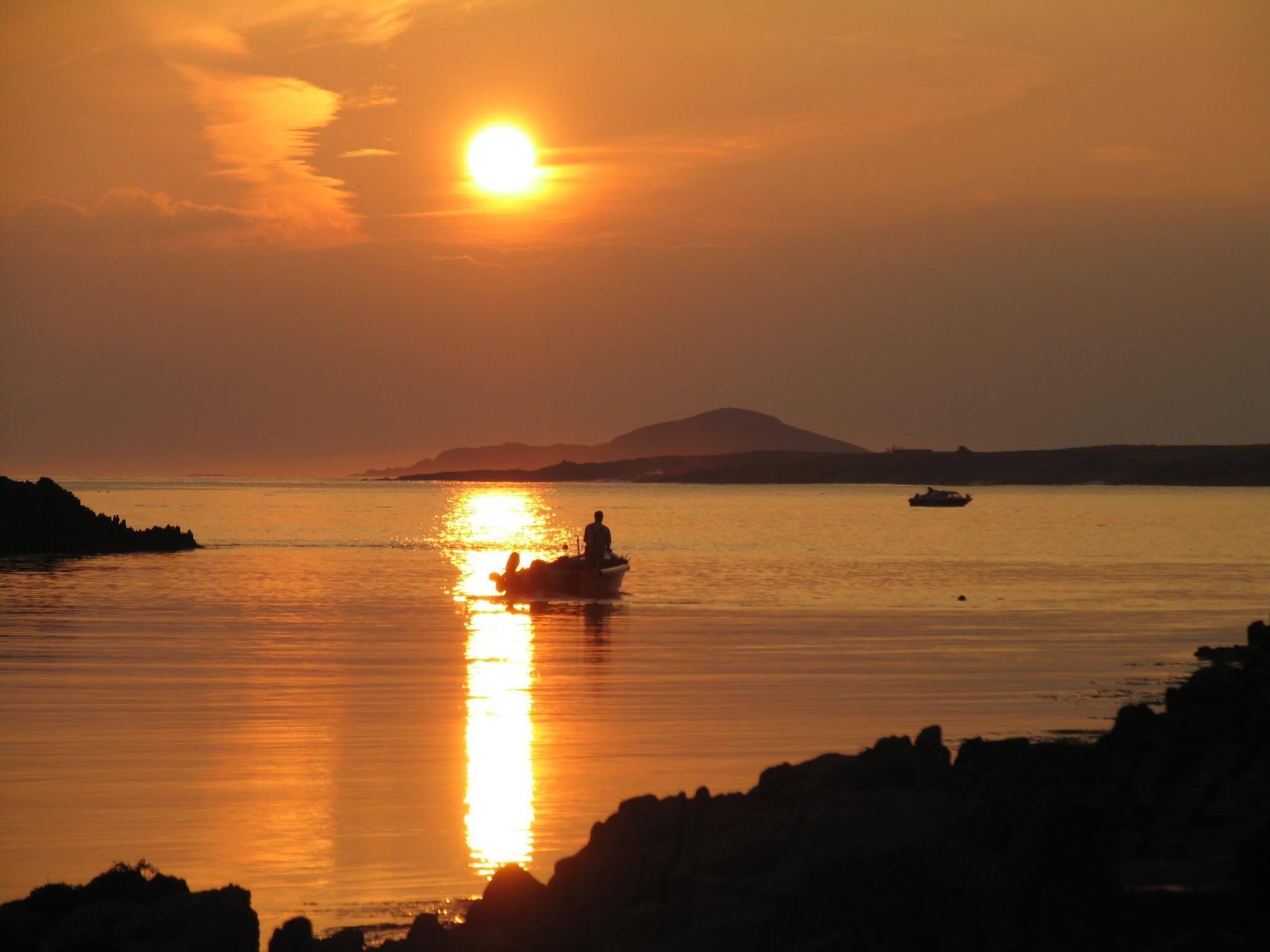 Beautiful sunset in Connemara