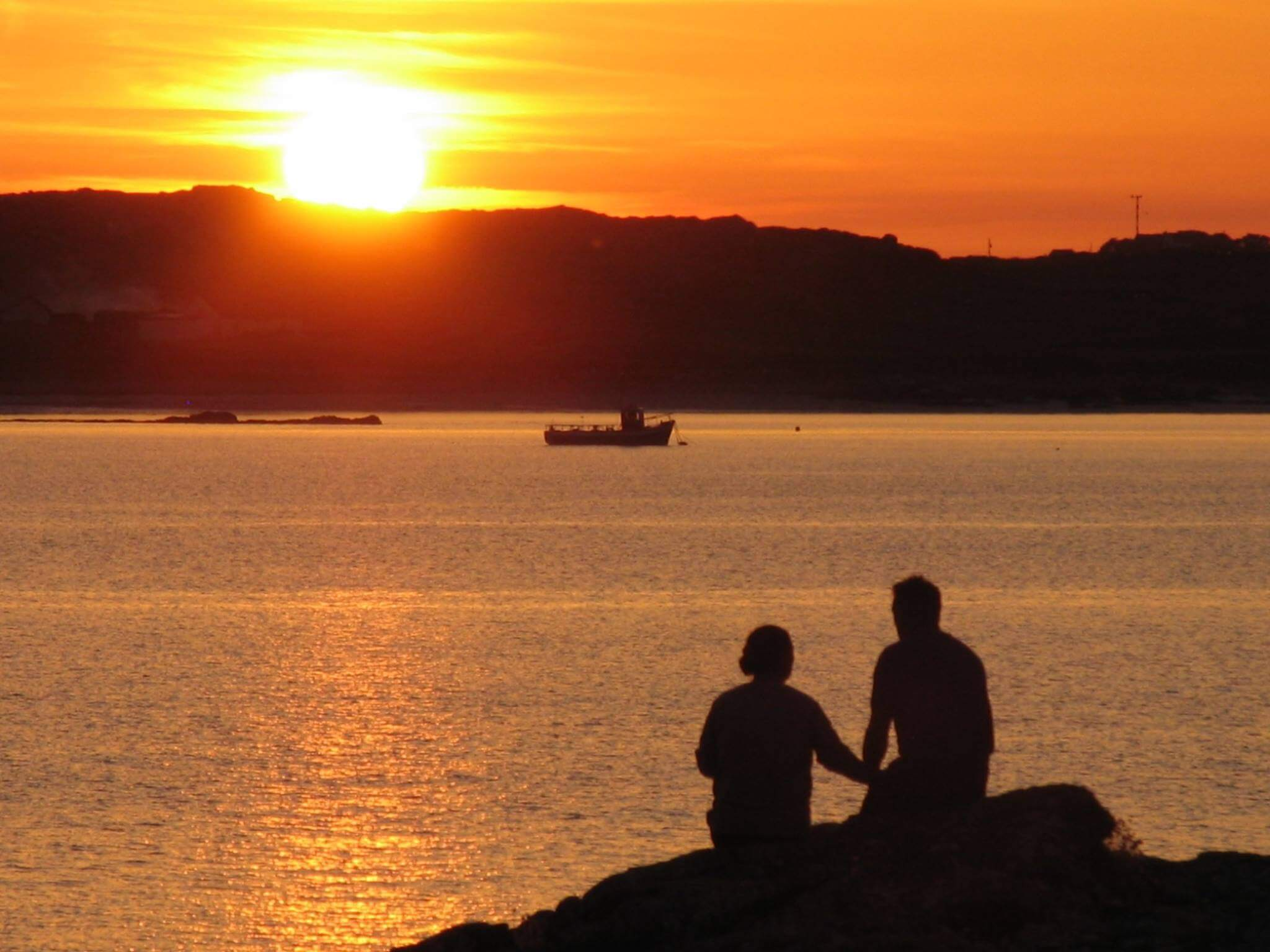 Romantic sunset in Clifden