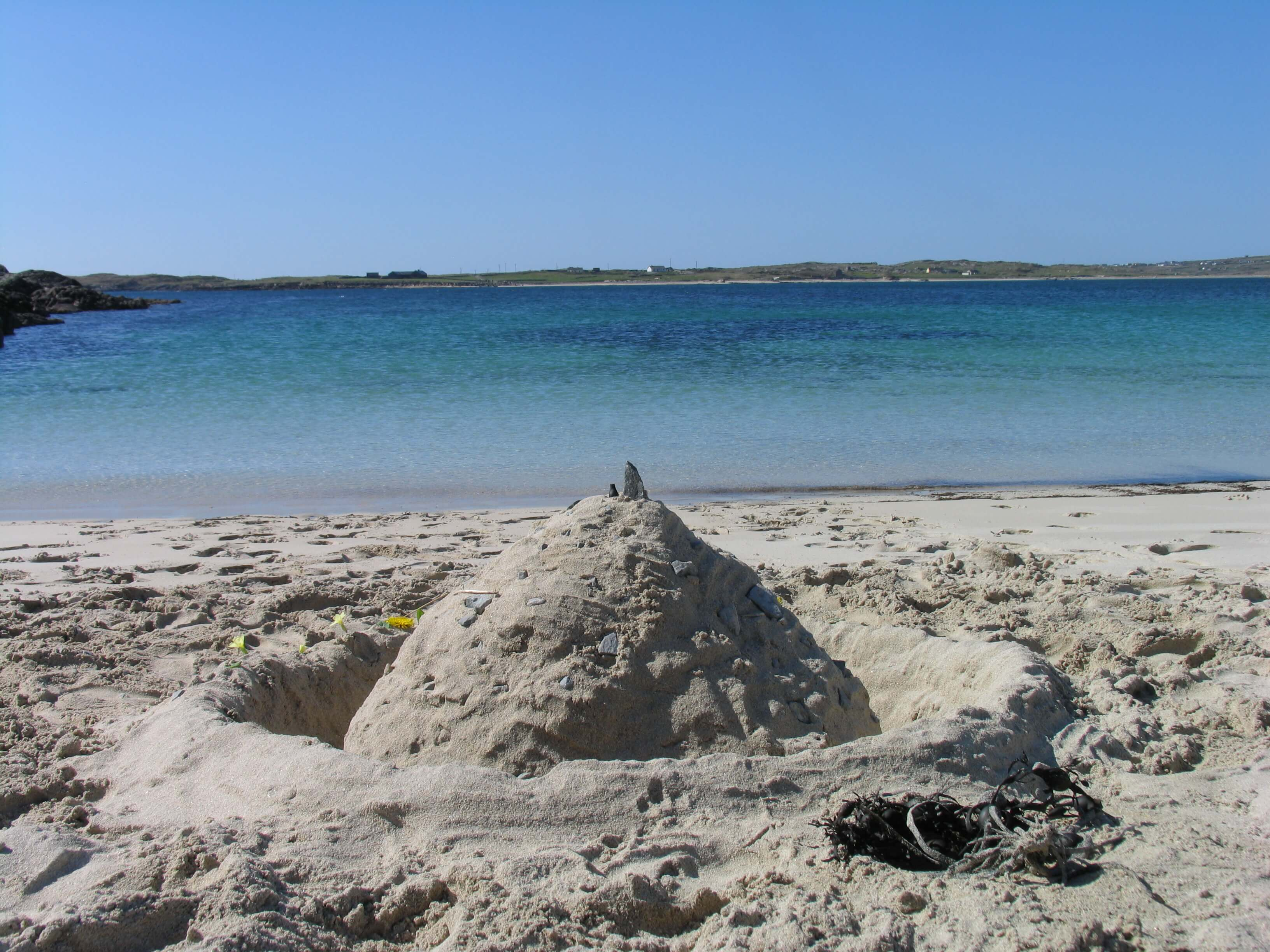 Building Sandcastles at Clifden Eco Beach