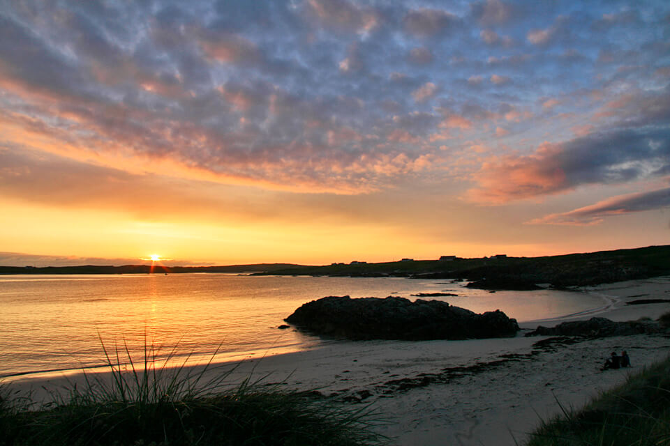 Sunsets at Clifden Eco Beach Camping